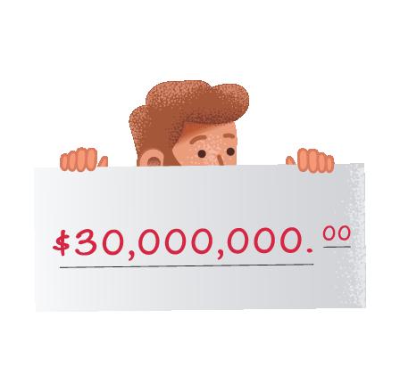 Ganadores de la lotería americana Mega Millions en theLotter