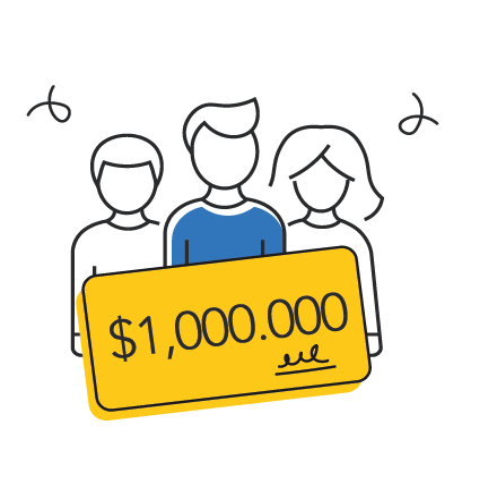 Ganadores de Mega Millions en theLotter