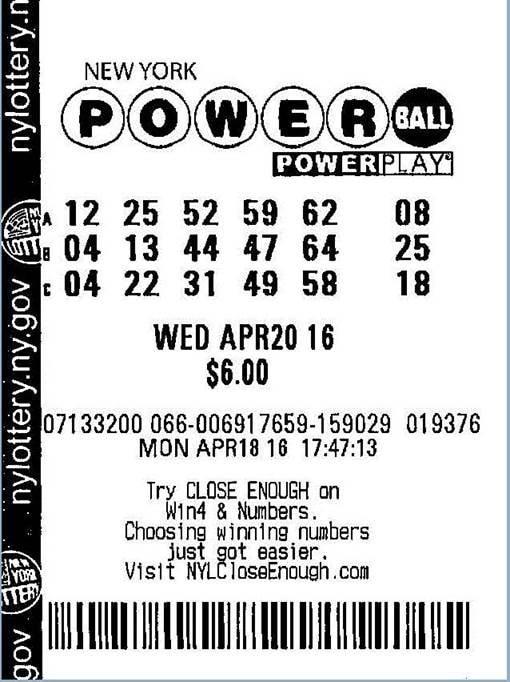 boleto ganador Powerball